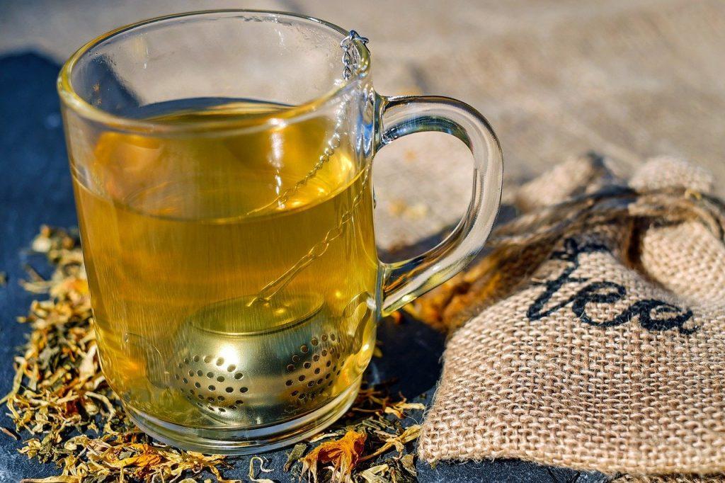 tee, glass, tea infuser